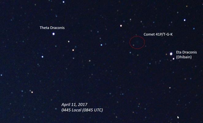 Comet 41P T-G-K, Labelled