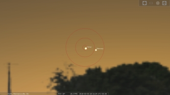 Venus Mercury Conjunction, 180303